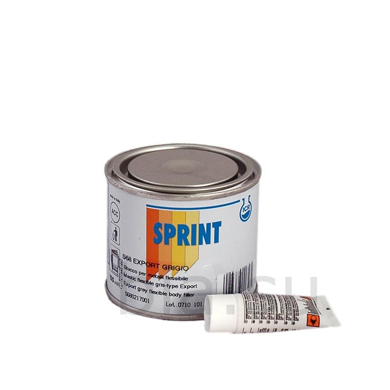 S68 Шпатлевка Sprint эластичная серая Export, уп  0,125л/0,229 кг,  S680217001